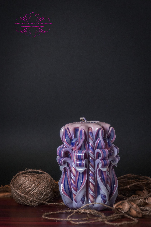 Резная свеча высотой 12 см