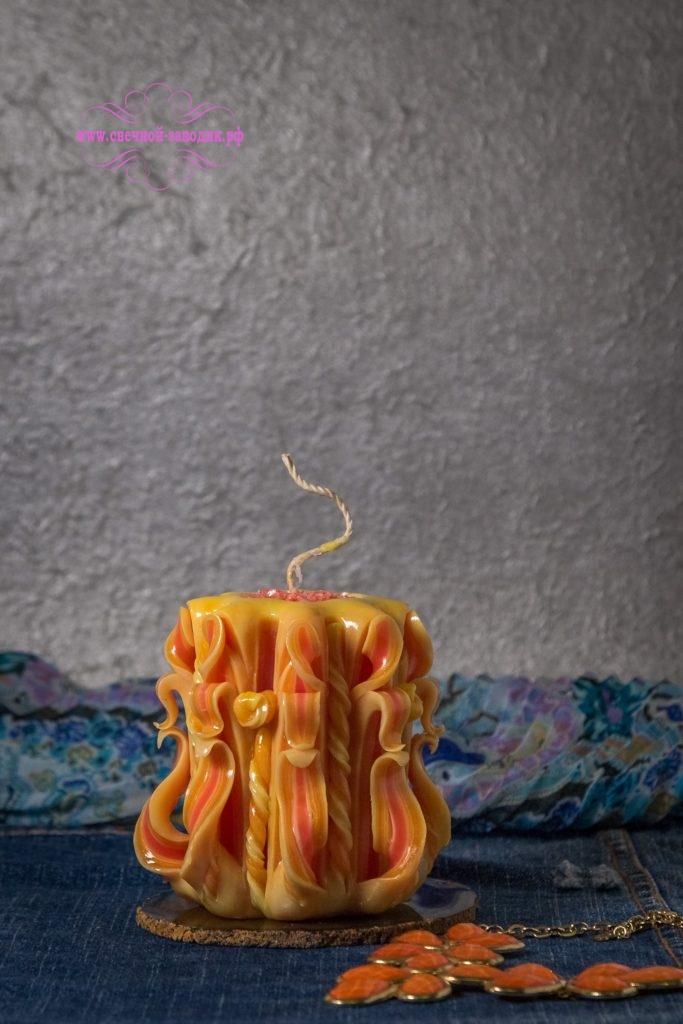 Резная свеча высотой 9 см