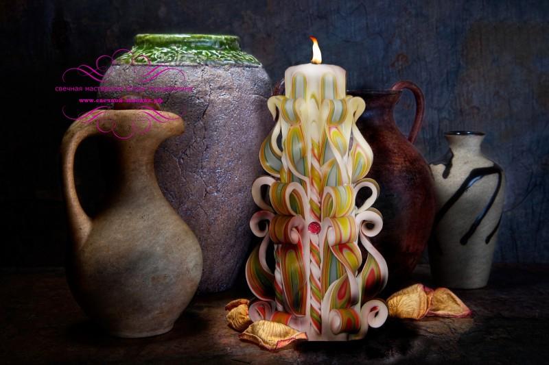 Резная свеча высотой 22 см