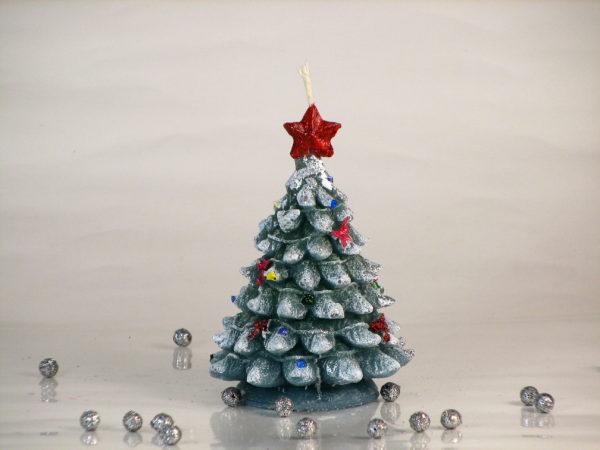 свеча елка со звездой