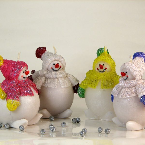 свеча снеговик толстяк