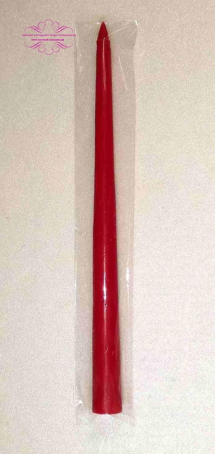 Аромо-свеча. Клубника. Античная, конусная. 27 см. В упаковке.