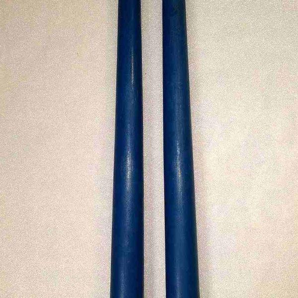 Свеча синяя. Античная, конусная. Высота 27 см.