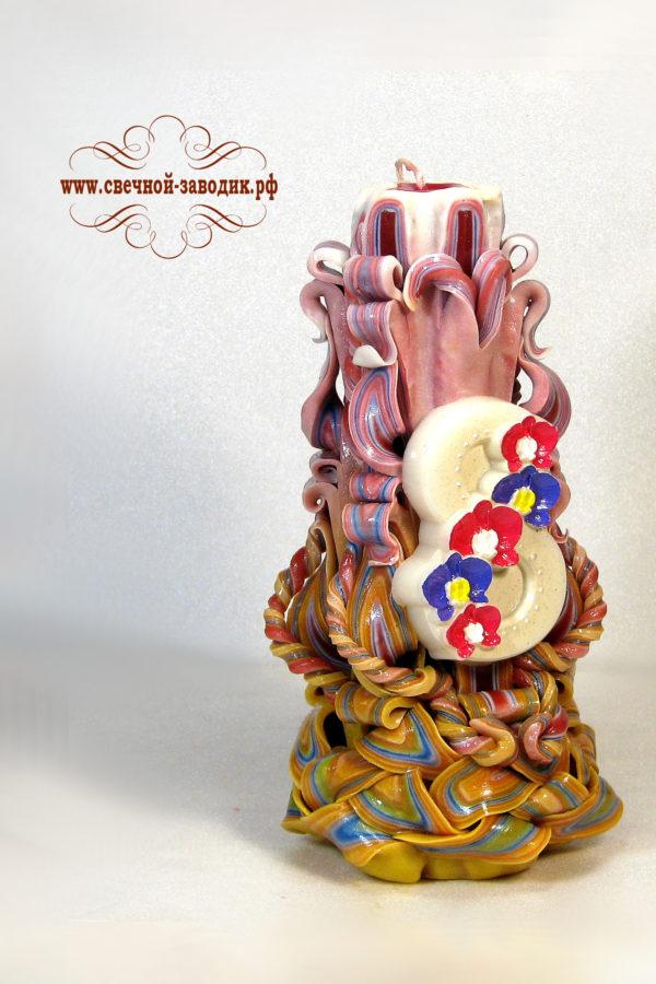 свеча резная 22 см 8 марта