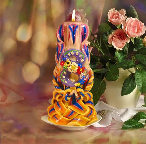 свеча резная 8 марта высотой 22 см