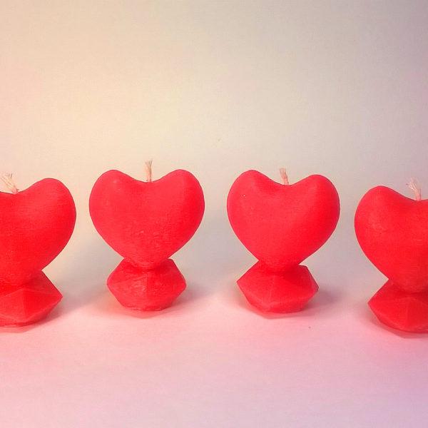свеча сердце на кристалле