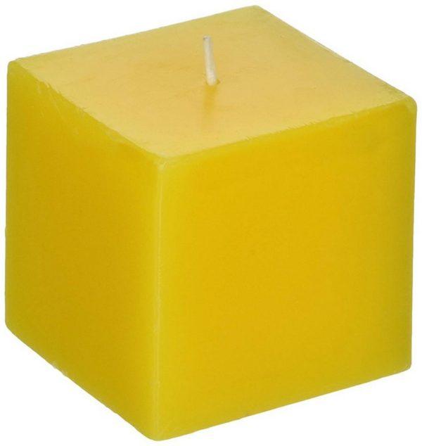 свеча квадратная желтая высотой 10 см
