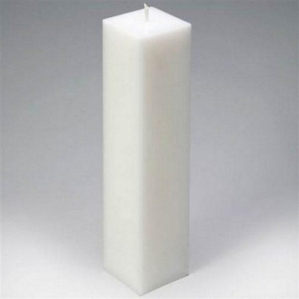 Свеча квадратная. Ширина 5 см, высота 22 см.