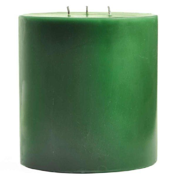 свеча зеленая диаметр 15 см высота 20 см